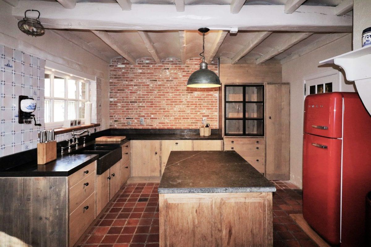 Nostalgische keuken | massief hout | tegeltjes | Beerzel | Esgrado