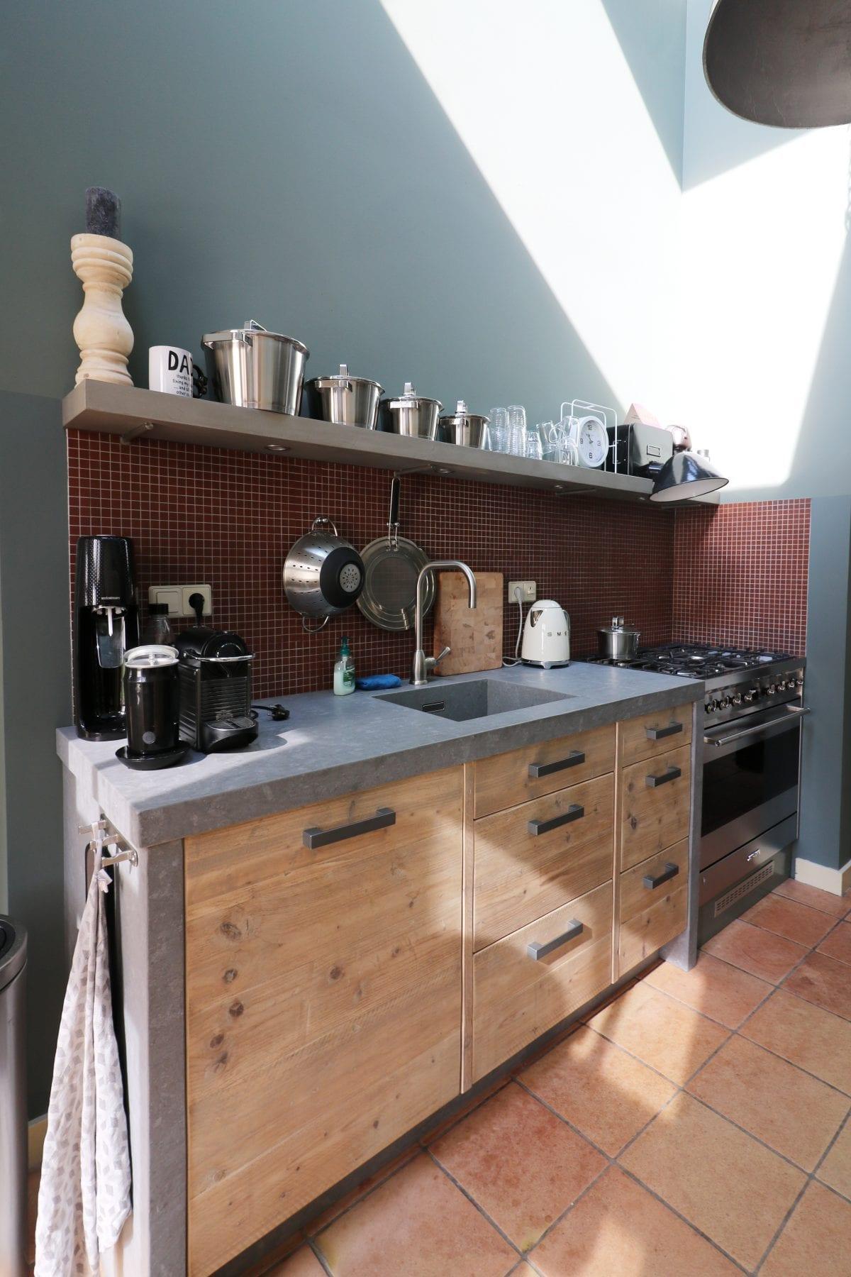 Hippe keuken betonlook aanrecht Werkhoven | Esgrado